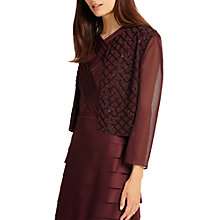 Buy Phase Eight Pippa Beaded Jacket, Black/Port Online at johnlewis.com
