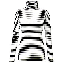 Buy Pure Collection Roll Neck Top, Black/White Online at johnlewis.com