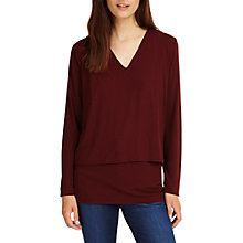 Buy Phase Eight Dee Double Layer Top, Brick Online at johnlewis.com