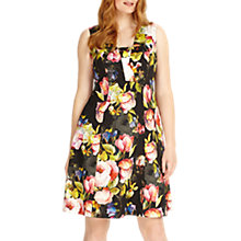 Buy Studio 8 Amara Fit And Flare Floral Dress, Black/Multi Online at johnlewis.com