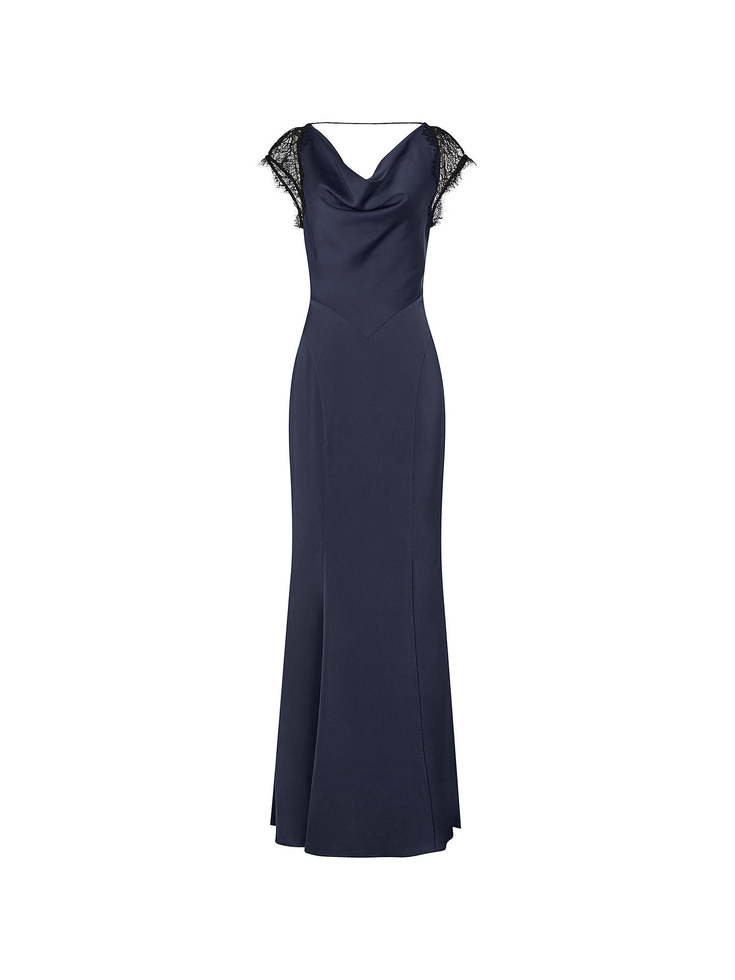 d7400c86c402 Buy Reiss Lace Back Maxi Dress, Night Navy, 6 Online at johnlewis.com