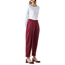 Buy Finery Rushbrook Peg Trousers, Red Plum Online at johnlewis.com