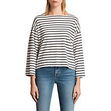 Buy AllSaints Nova Breton T-Shirt, White Chalk Online at johnlewis.com