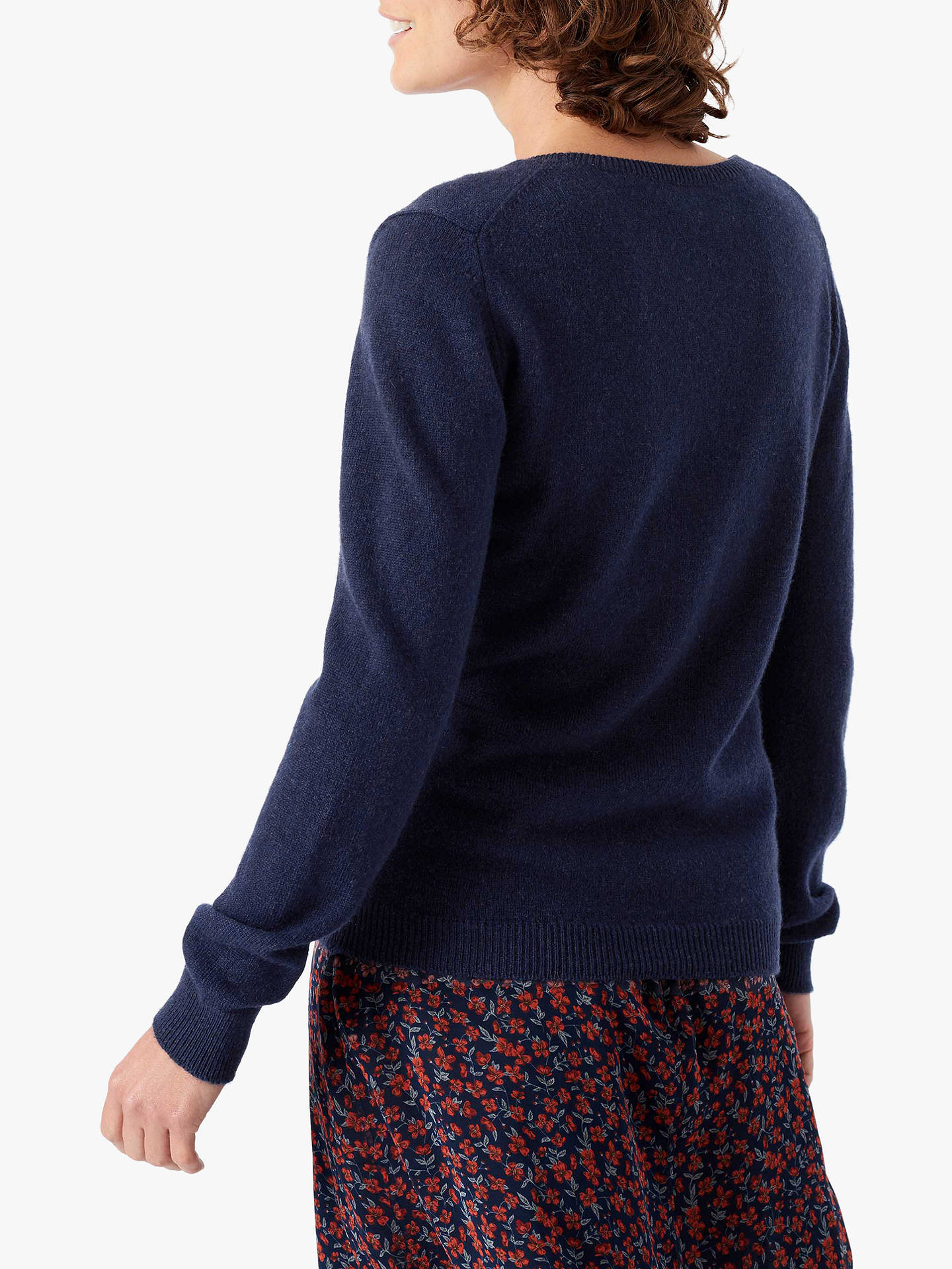 BuyBrora Cashmere Classic Round Neck Jumper, French Navy, 8 Online at johnlewis.com
