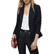 Buy Reiss Tilda Textured Single Breasted Blazer, Night Navy Online at johnlewis.com