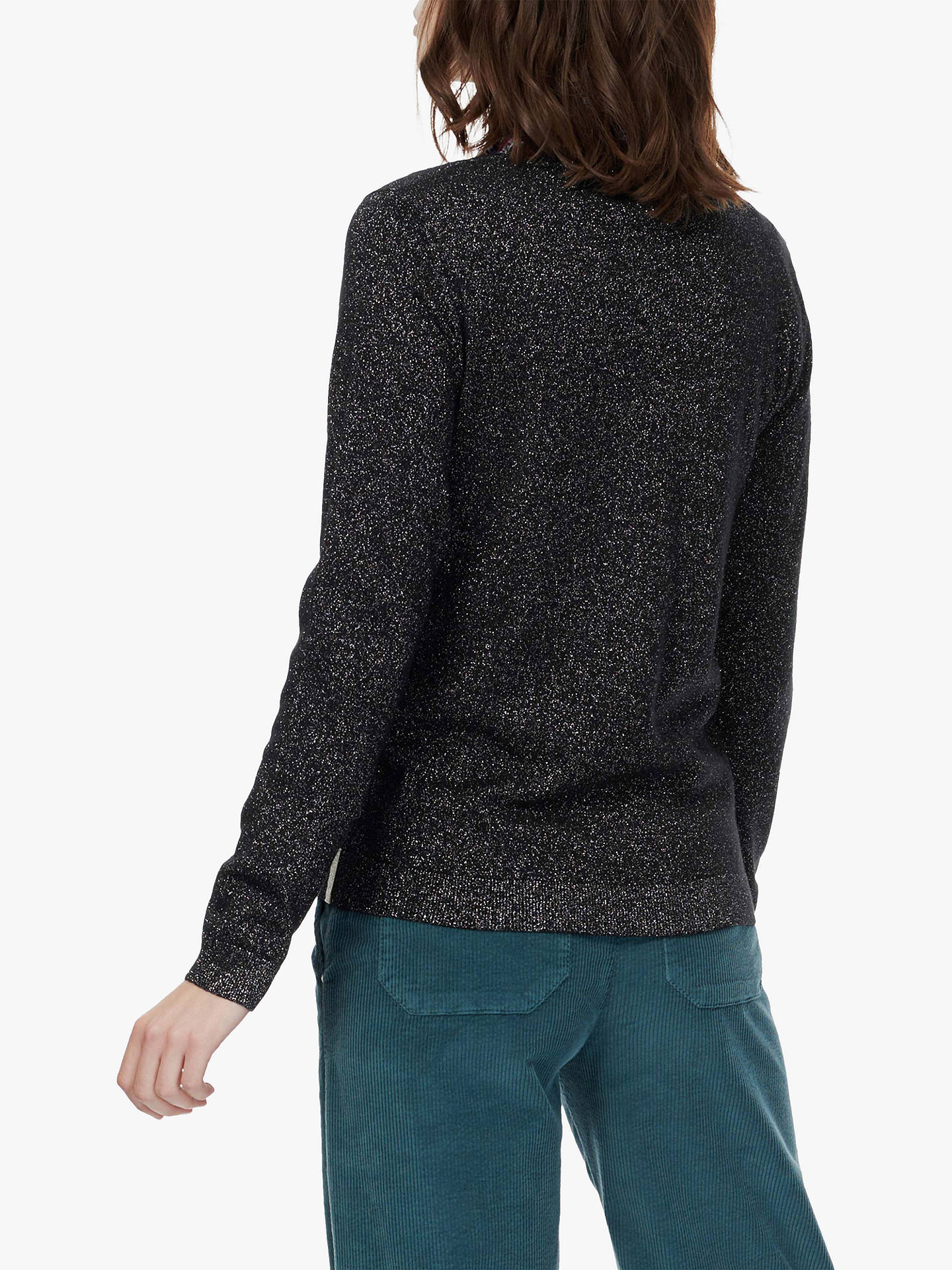BuyBrora Merino Wool Sparkle Jumper, Black, 8 Online at johnlewis.com