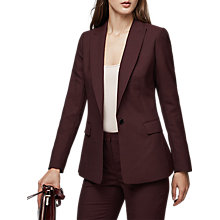 Buy Reiss Atlee Wool Blend Tailored Jacket, Berry Online at johnlewis.com