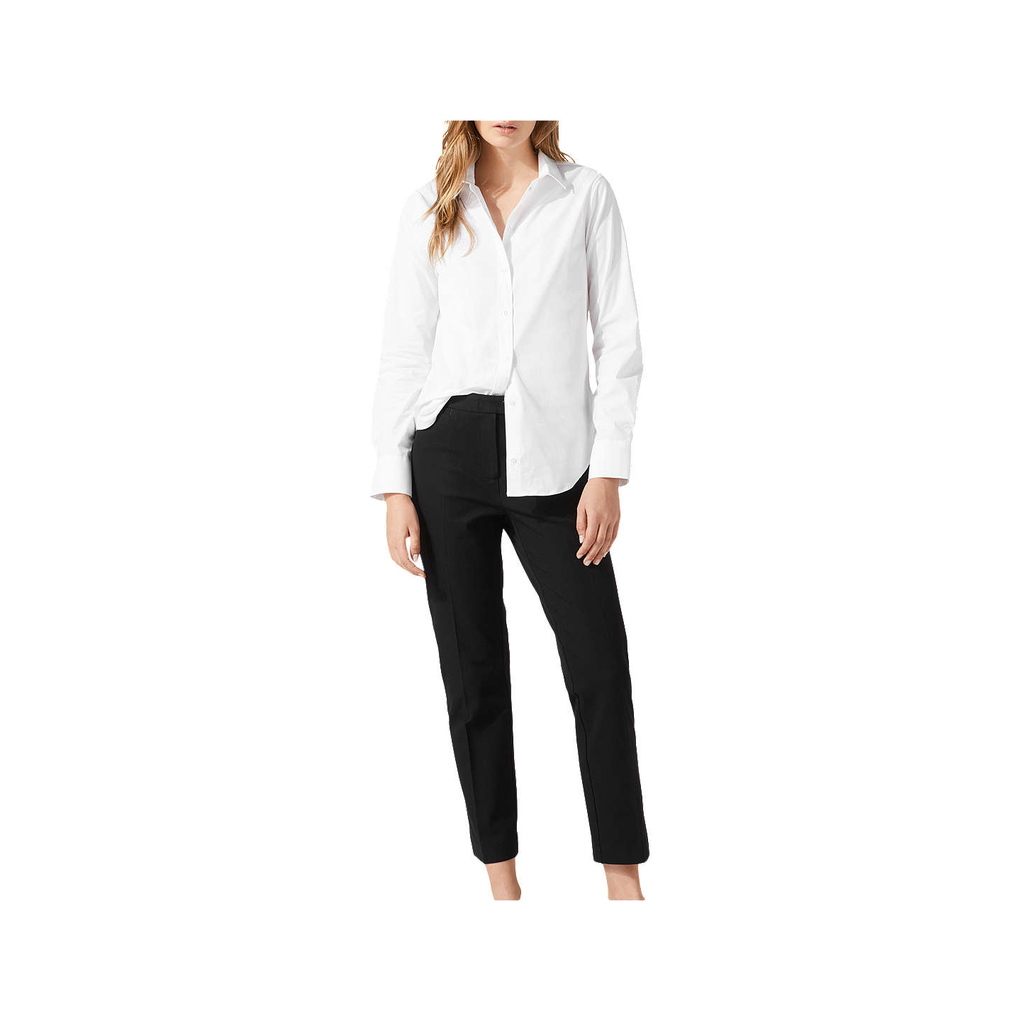 BuyJigsaw Stretch Cigarette Trousers, Black, 6 Online at johnlewis.com