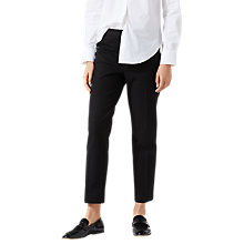 Buy Jigsaw Stretch Cigarette Trousers, Black Online at johnlewis.com