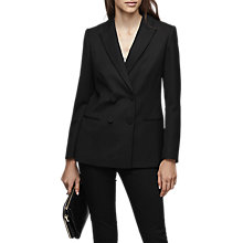 Buy Reiss Nola Double Breasted Blazer, Black Online at johnlewis.com