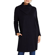 Buy Phase Eight Paloma Plain Jacquard Coat, Navy Online at johnlewis.com
