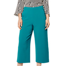Buy Karen Millen Cropped Wide Leg Trousers, Teal Online at johnlewis.com