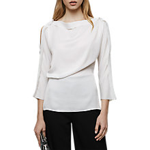 Buy Reiss Draped Sleeve Top Online at johnlewis.com