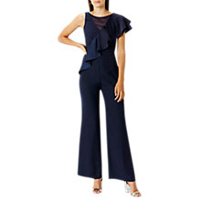 Buy Coast Heidi Frill Jumpsuit, Navy Online at johnlewis.com