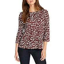 Buy Phase Eight Sara Leopard Spot Boat Neck Top, Ivory/Brick Online at johnlewis.com