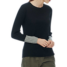 Buy Brora Merino Wool Ribbed Jumper Online at johnlewis.com