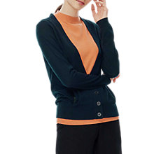 Buy Brora Merino Wool V-Neck Cardigan Online at johnlewis.com