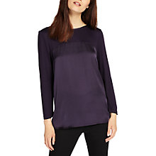 Buy Phase Eight Sally Satin Top, Deadly Nightshade Online at johnlewis.com