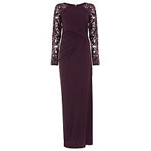 Buy Phase Eight Akira Full Length Dress, Fig Online at johnlewis.com