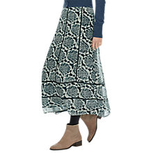 Buy Brora Silk Beaded Chiffon Skirt, Neptune Flower Online at johnlewis.com