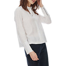 Buy Brora Cotton Pintuck Shirt, Ivory Online at johnlewis.com