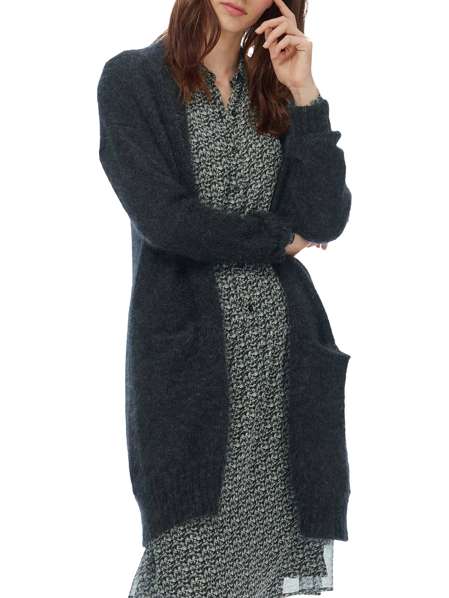 Brora Mohair Long Line Cardigan at John Lewis   Partners 18e5edd7f