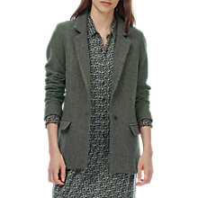 Buy Brora Wool Tweed Blazer, Olive Online at johnlewis.com
