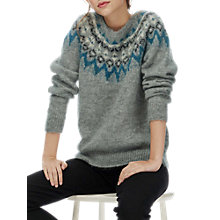 Buy Brora Mohair Icelandic Jumper, Silver Online at johnlewis.com