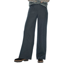 Buy Brora Wool Tailored Wide Leg Trousers, Charcoal Online at johnlewis.com