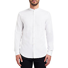Buy BOSS Orange Eeasy Grandad Shirt, White Online at johnlewis.com