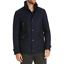 Buy BOSS Green Jorfey Microstructured Field Jacket, Navy Online at johnlewis.com