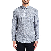 Buy BOSS Orange Epop Camouflage Shirt, Medium Grey Online at johnlewis.com