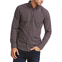 Buy BOSS Epreppy End on End Check Slim Fit Shirt, Open Red Online at johnlewis.com