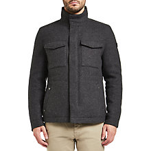 Buy BOSS Orange Falcon Wool Twill Jacket, Charcoal Online at johnlewis.com