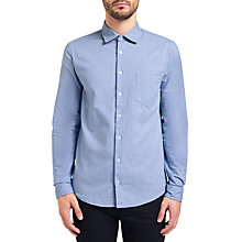 Buy BOSS Orange Epop Alcantara Shirt, Open Blue Online at johnlewis.com