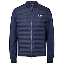 Buy BOSS Green Pro Golf Jalmstad Pro Padded Jacket, Navy Online at johnlewis.com