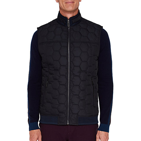 Buy Ted Baker T for Tall Ferntt Quilted Gilet, Navy Online at johnlewis.com