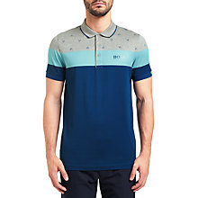Buy BOSS Green Paddy MK Polo Shirt, Light/Pastel Grey Online at johnlewis.com