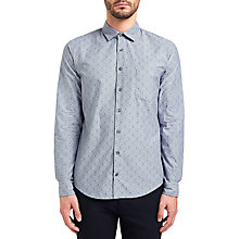 Buy BOSS Orange Epop Spot Shirt, Dark Blue Online at johnlewis.com