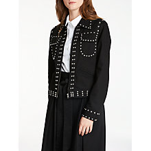 Buy Somerset by Alice Temperley Studded Jacket, Black Online at johnlewis.com