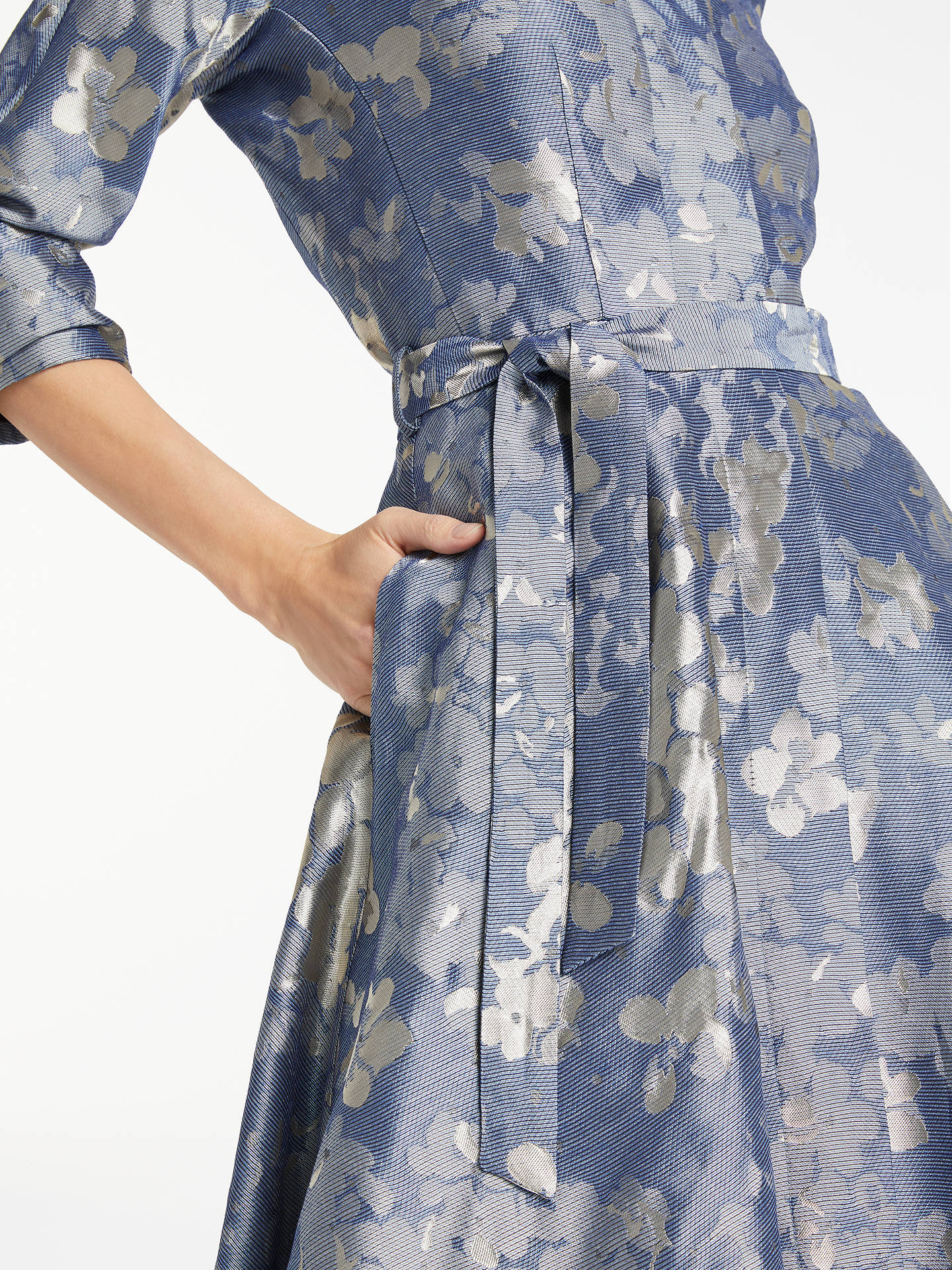 BuyBruce by Bruce Oldfield Floral Jacquard Dress, Blue, 8 Online at johnlewis.com