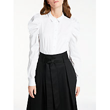 Buy Somerset by Alice Temperley Ruched Sleeve Poplin Shirt, White Online at johnlewis.com