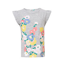 Buy John Lewis Girls' Abstract Floral T-Shirt, Grey Online at johnlewis.com