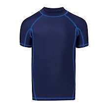 Buy John Lewis Boys' Short Sleeve Rashie, Navy Online at johnlewis.com