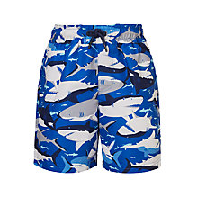 Buy John Lewis Boys' Shark Swim Shorts Online at johnlewis.com
