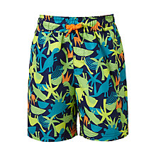Buy John Lewis Boys' Dinosaur Print Swimming Shorts, Green Online at johnlewis.com