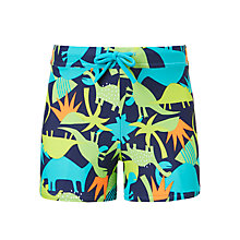 Buy John Lewis Boys' Dinosaur Print Swimming Trunks, Green Online at johnlewis.com
