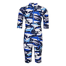 Buy John Lewis Boys' Shark Print SunPro, Navy Online at johnlewis.com