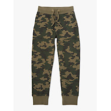 Buy John Lewis Boys' Camouflage Joggers, Green Online at johnlewis.com