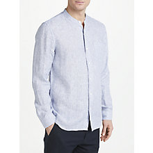 Buy John Lewis Linen Stripe Grandad Shirt Online at johnlewis.com